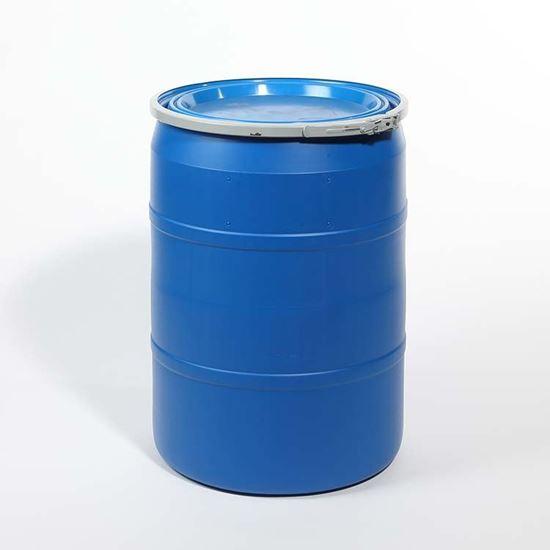 Picture of 30 Gallon Open Head  Blue Plastic Drum