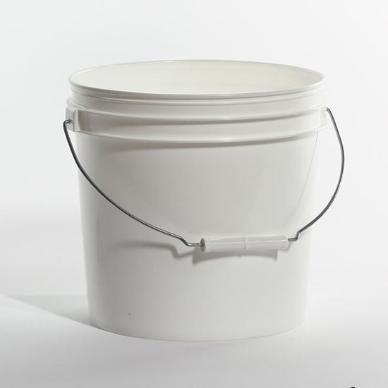 Picture of 2 Gallon HDPE White Open Head Nestable Pail