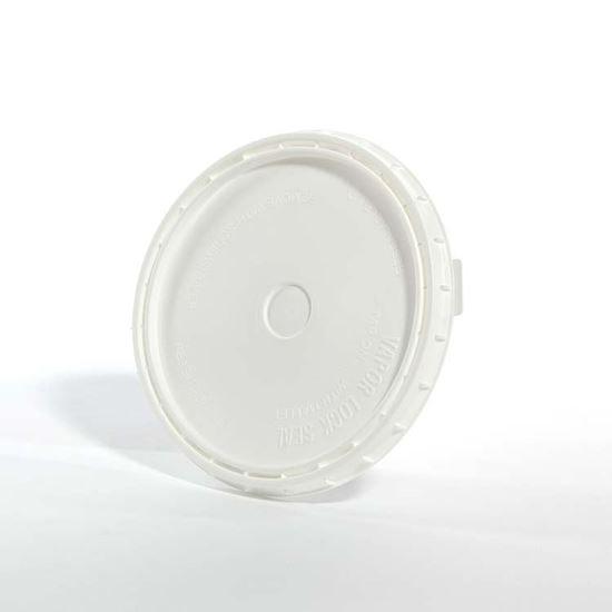 Picture of 1 Gallon HDPE White Cover w/ Vapor Lok