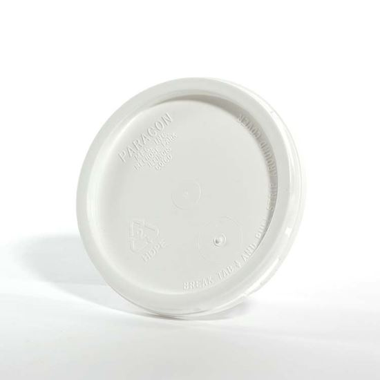 Picture of 1 Gallon HDPE White Cover w/ Tear Tab