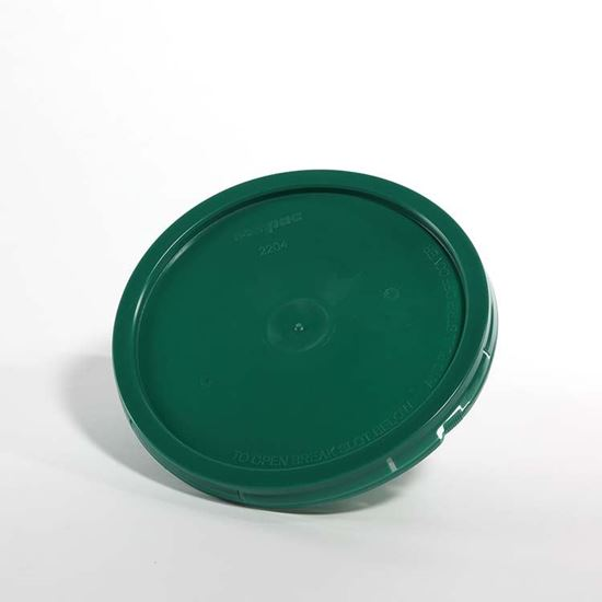 Picture of 2 Gallon HDPE Green #561C Cover w/ Pry Off
