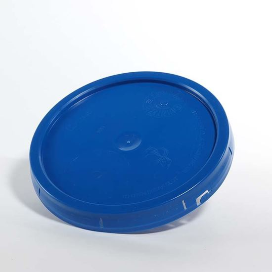 Picture of 3.5-6 Gallon HDPE Blue Cover w/ Tear Tab with EPDM Gasket