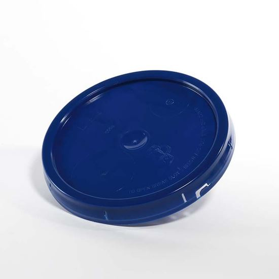 Picture of 3.5-6 Gallon HDPE Dark Blue Cover w/ Tear Tab