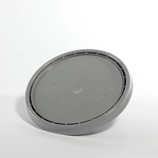 Picture of 3.5-6 Gallon HDPE Gray Cover w/ Pry Off