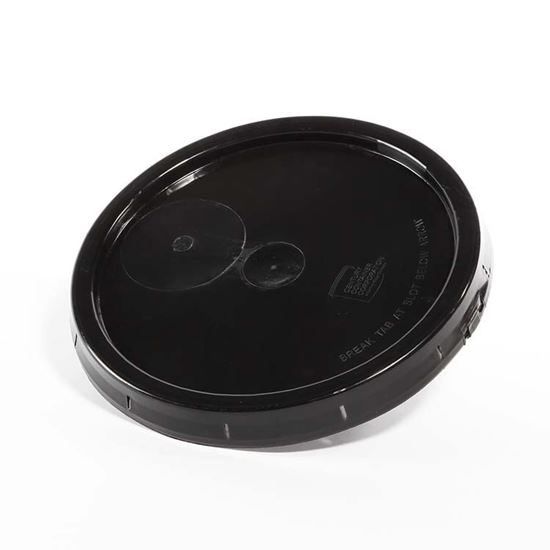 Picture of 3.9 Gallon HDPE Black Cover w/ Tear Tab with Neoprene Gasket