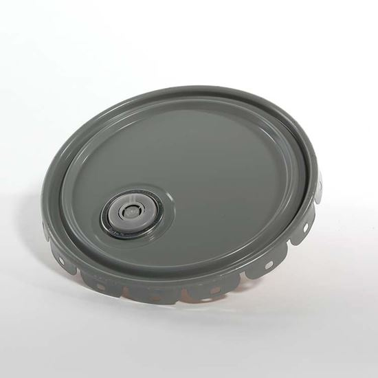 Picture of 5 Gallon Steel Gray Lug Cover w/ Interior Buff Epoxy Phenolic, Rieke Prep and Flow in Gasket - UN