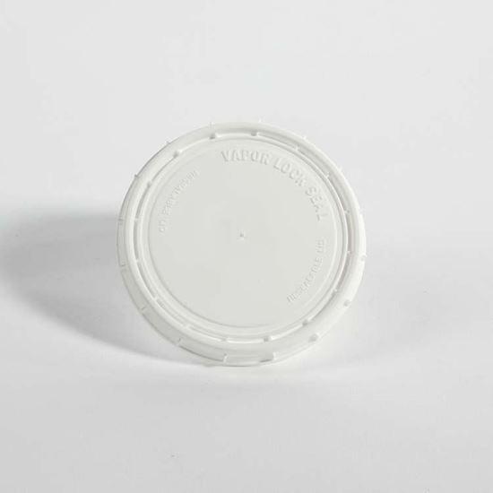 Picture of 8 oz White HDPE Tub Cover Vapor Lok