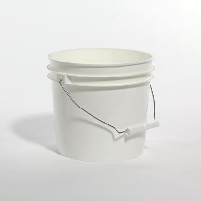Picture of 1 Gallon HDPE White Open Head Nestable Pail w/ Anti-stat