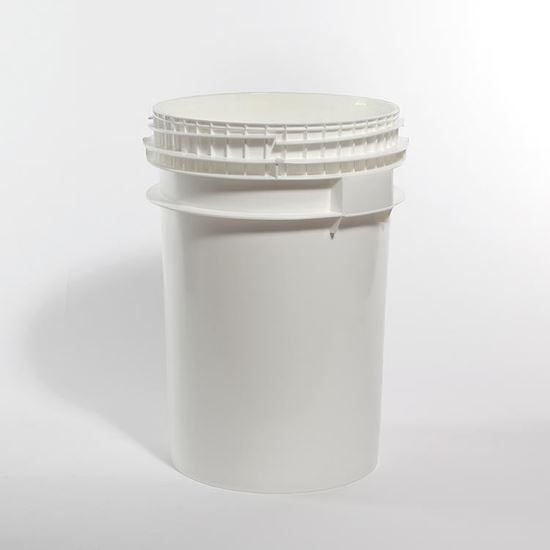 Picture of 10.7 Gallon HDPE White Open Head Nestable Pail w/ Screw Top