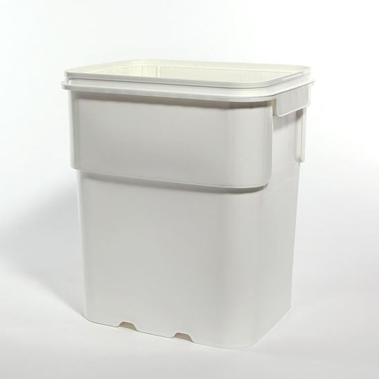Picture of 13 Gallon HDPE White Open Head Nestable Pail