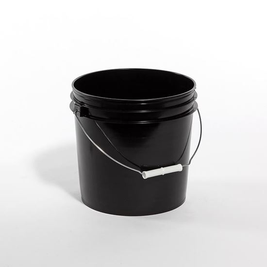 Picture of 2 Gallon HDPE Black Open Head Nestable Pail