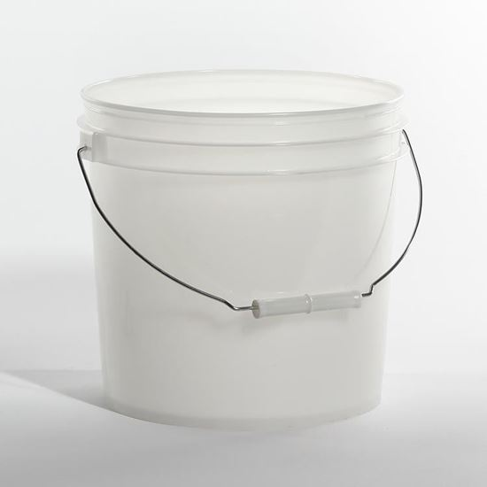 Picture of 2 Gallon HDPE Natural Open Head Nestable Pail