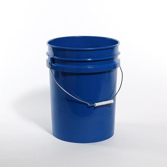 Picture of 20 L HDPE Blue #306 Open Head Nestable Pail w/ CWL