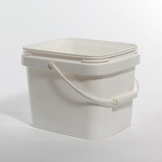 Picture of 3 Gallon HDPE White Open Head Nestable Pail
