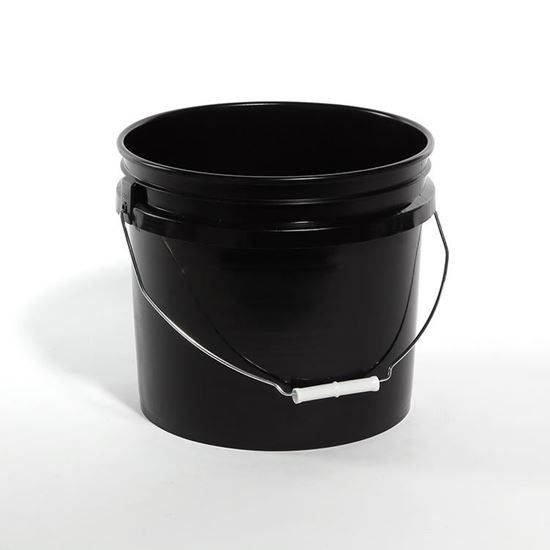Picture of 3.5 Gallon HDPE Black Open Head Nestable Pail