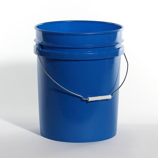 Picture of 5 Gallon HDPE Blue Open Head Nestable Pail w/ CWL