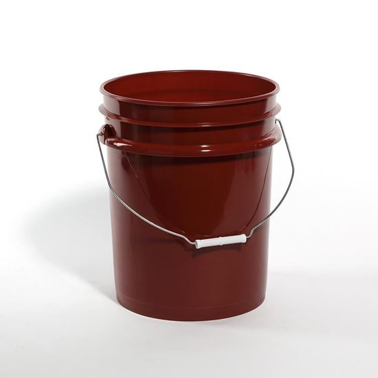 Picture of 5 Gallon HDPE Red Open Head Nestable Pail w/ CWL