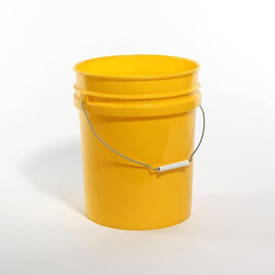 Picture of 5 Gallon HDPE Yellow Open Head Nestable Pail w/ CWL