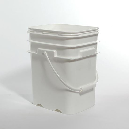 Picture of 5.3 Gallon HDPE White Open Head Nestable Pail