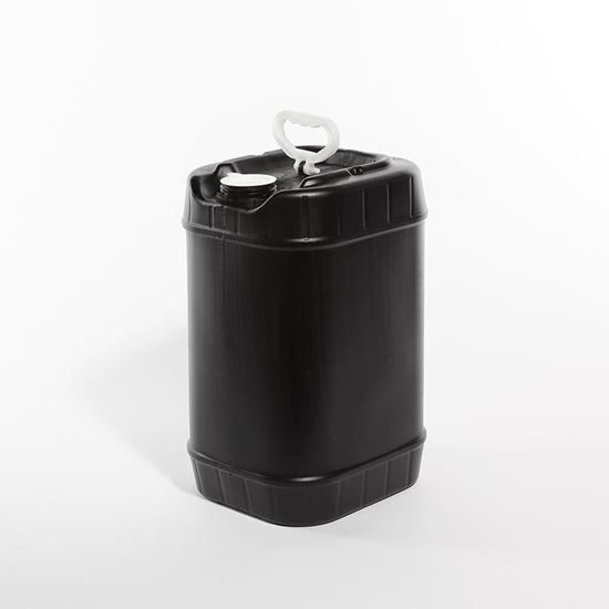 Picture of 6 Gallon HDPE Black Tight Head Pail w/ Swing Handle