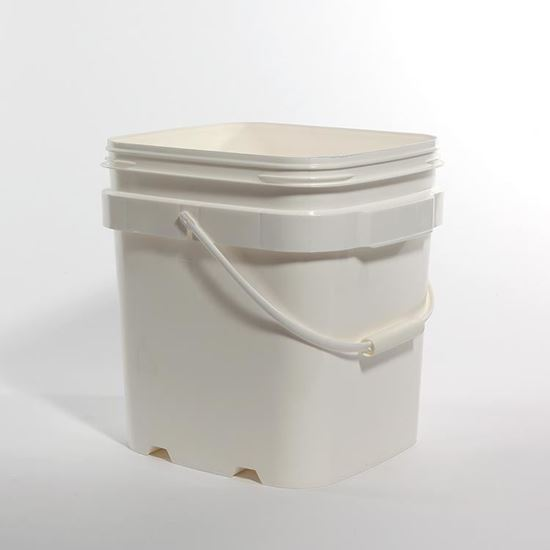 Picture of 6.5 Gallon HDPE White Open Head Nestable Pail