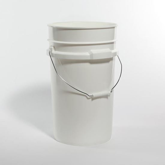 Picture of 7 Gallon HDPE White Open Head Nestable Pail