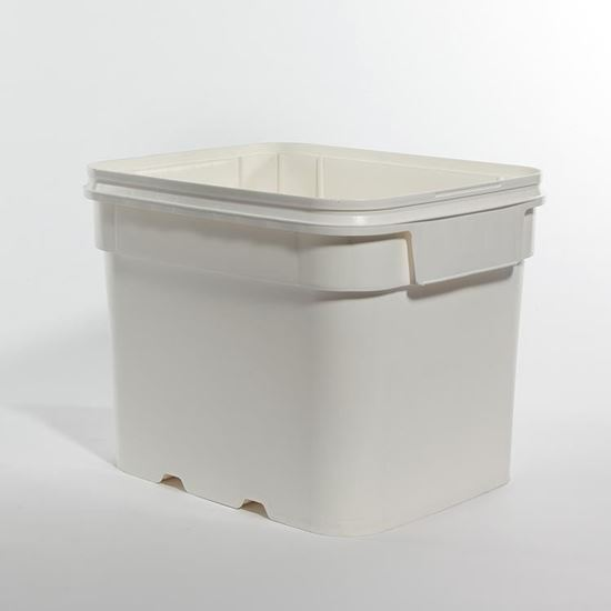 Picture of 8 Gallon HDPE White Open Head Nestable Pail