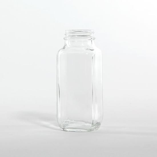 Picture of 8 oz Square Glass Bottle