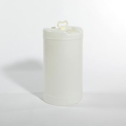 "Picture of 15 Gallon Tight Head  Natural Plastic Drum with 2"" and 3/4"" Fittings"