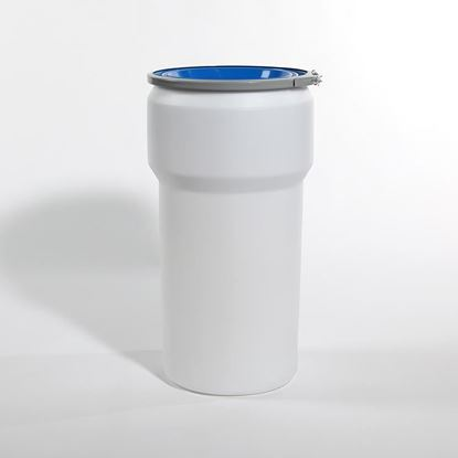 Picture of 20 Gallon Open Head Nestable Natural Plastic Drum