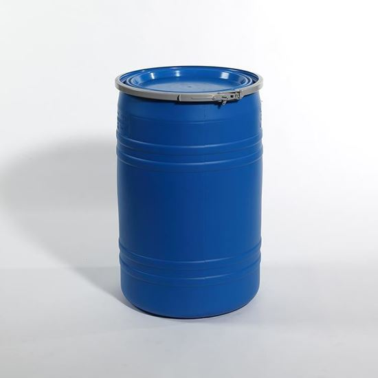 Picture of 30 Gallon Open Head  Blue Plastic Drum