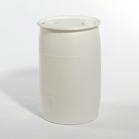 """Picture of 30 Gallon Tight Head  Natural Plastic Drum with 2"""" Buttress and 2"""" NPT Fittings"""