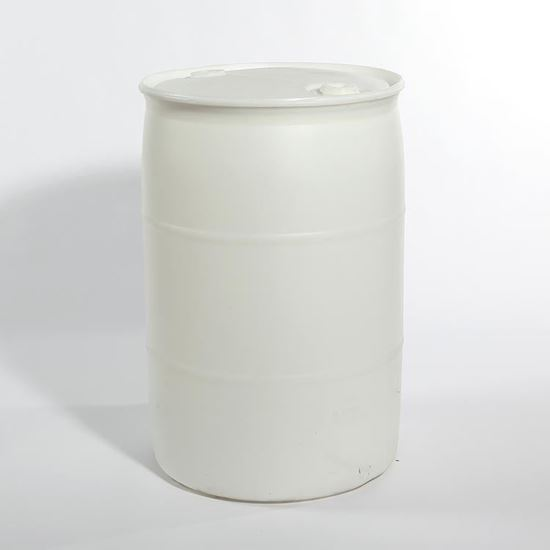 """Picture of 55 Gallon Tight Head  Natural Plastic Drum with 2"""" Buttress and 2"""" NPS Fittings"""