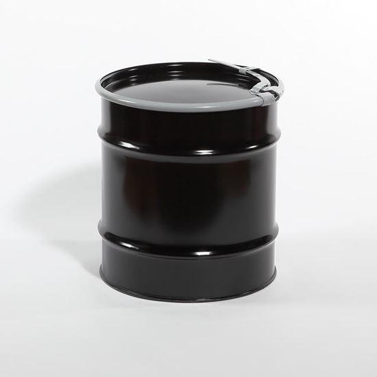 Picture of 20 Gallon Open Head  Black Steel Drum
