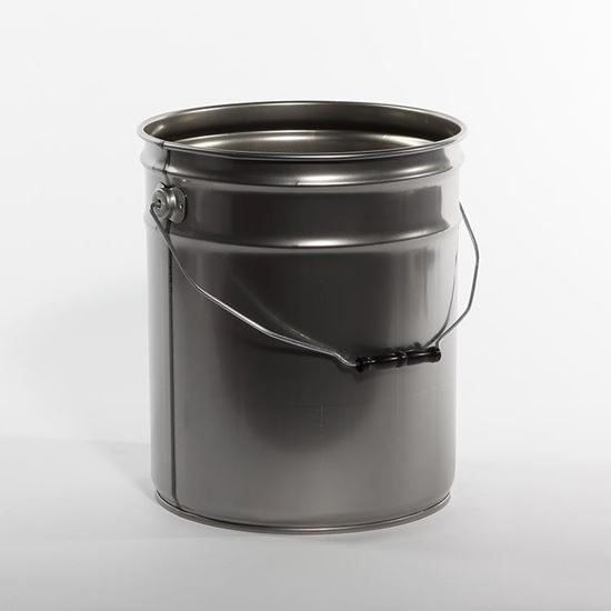 Picture of 5 Gallon Steel Clear Varnish Open Head Nestable Pail w/ Rust Inhibitor Lining