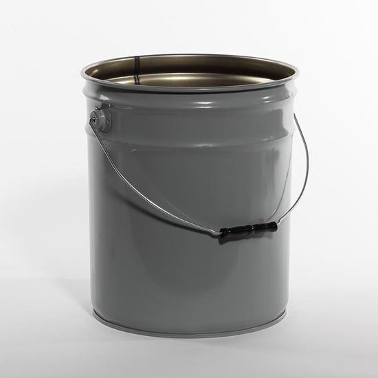 Picture of 5 Gallon Steel Gray Open Head Nestable Pail w/ Rust Inhibitor Lining