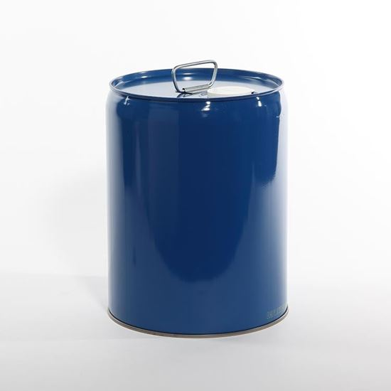 Picture of 5.3 Gallon Steel Blue Tight Head Pail w/ Gold Phenolic Lining