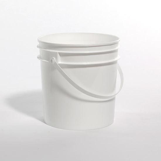 Picture of 1 Gallon White HDPE Tub w/ Plastic Handle