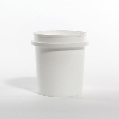 Picture of 16 oz White HDPE Tub Vapor Lok