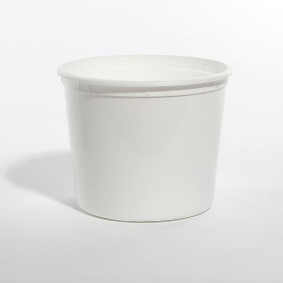 Picture of 166 oz White HDPE Tub No Handle