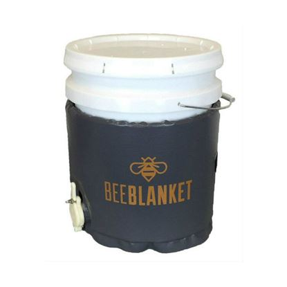 Picture of 5-Gallon Insulated Pail Heater w/Cutout for Gate Valve, Fixed Thermostat, 110 °F - BeeBlanket