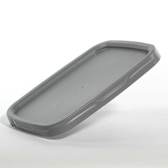 Picture of 5.3 Gallon HDPE Gray Cover w/ Pry Off