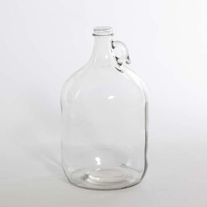 Picture of 128 oz Round Glass Bottle