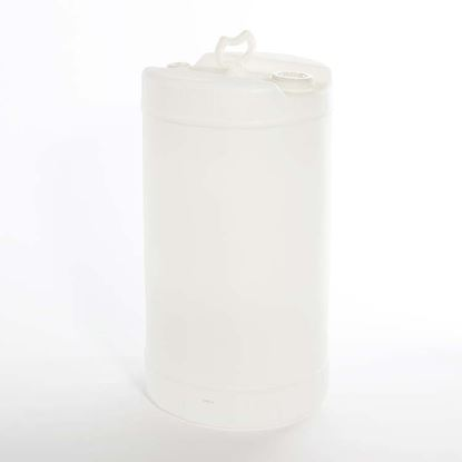 "Picture of 15 Gallon Tight Head  Natural Plastic Drum with 2"" Buttress  Fittings"