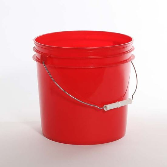 Picture of 2 Gallon HDPE Red Open Head Nestable Pail