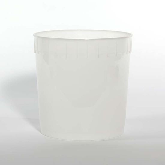Picture of 2.5 Gallon HDPE Natural Open Head Nestable Pail