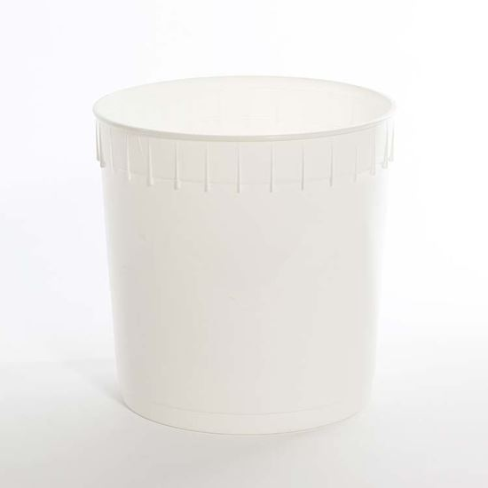 Picture of 2.5 Gallon HDPE White Open Head Nestable Pail
