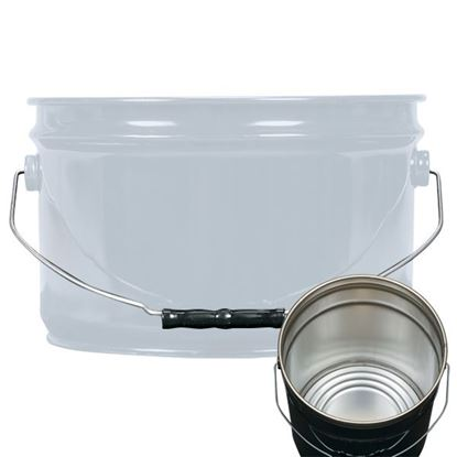 Picture of 2.5 Gallon Steel Gray Open Head Nestable Pail w/ Rust Inhibitor Lining
