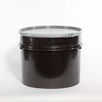 Picture of 20 Gallon Open Head  Black Plastic Drum