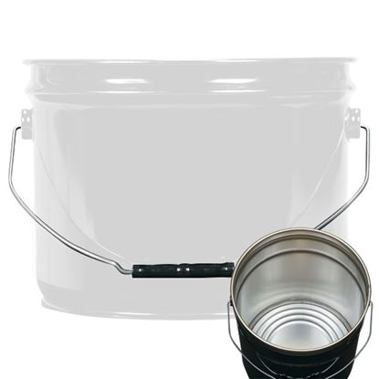 Picture of 3 Gallon Steel White Open Head Nestable Pail w/ Rust Inhibitor Lining